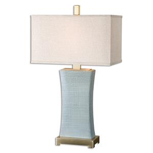 Uttermost Lamps Cantarana Blue Gray Table Lamp