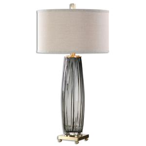 Uttermost Table Lamps Vilminore Gray Glass Table Lamp
