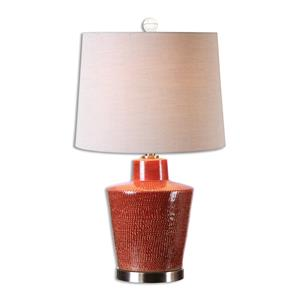 Uttermost Lamps Cornell Brick Red Table Lamp