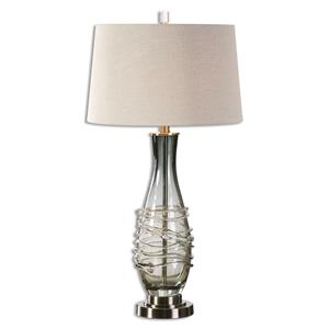Uttermost Table Lamps Durazzano Gray Glass Table Lamp