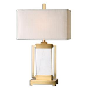 Uttermost Table Lamps Marnett White Marble Table Lamp