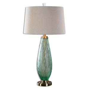 Uttermost Lamps Lenado Sea Green Glass Table Lamp