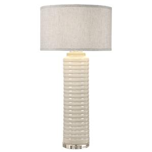 Uttermost Table Lamps Yana Ribbed Cylinder Lamp