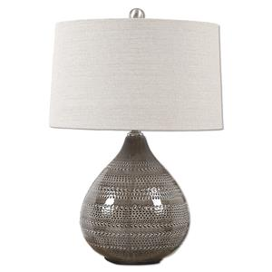 Uttermost Table Lamps Batova Smoke Gray Lamp