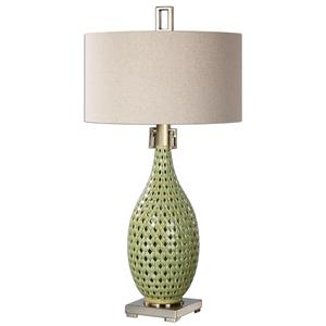 Uttermost Table Lamps Chamoru Green Glaze Lamp