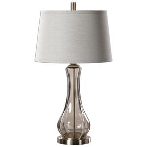 Uttermost Table Lamps Cynthiana Smoke Gray Glass Lamp