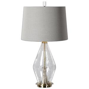 Uttermost Table Lamps Spezzano Crackled Glass Lamp
