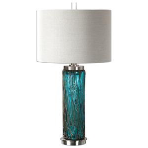 Uttermost Table Lamps Almanzora Blue Glass Lamp