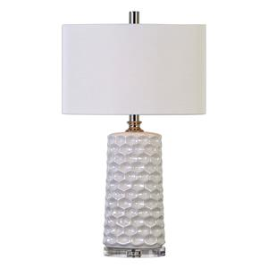 Sesia White Honeycomb Table Lamp