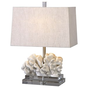Coral Sculpture Table Lamp