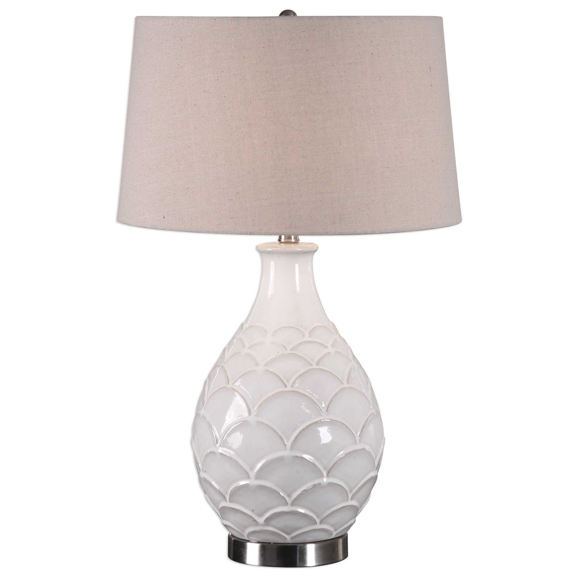 Table Lamps Camellia Glossed White Table Lamp by Uttermost at Suburban Furniture