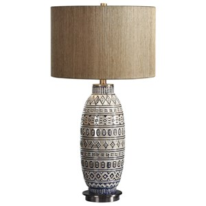 Lokni Aged Ivory Table Lamp