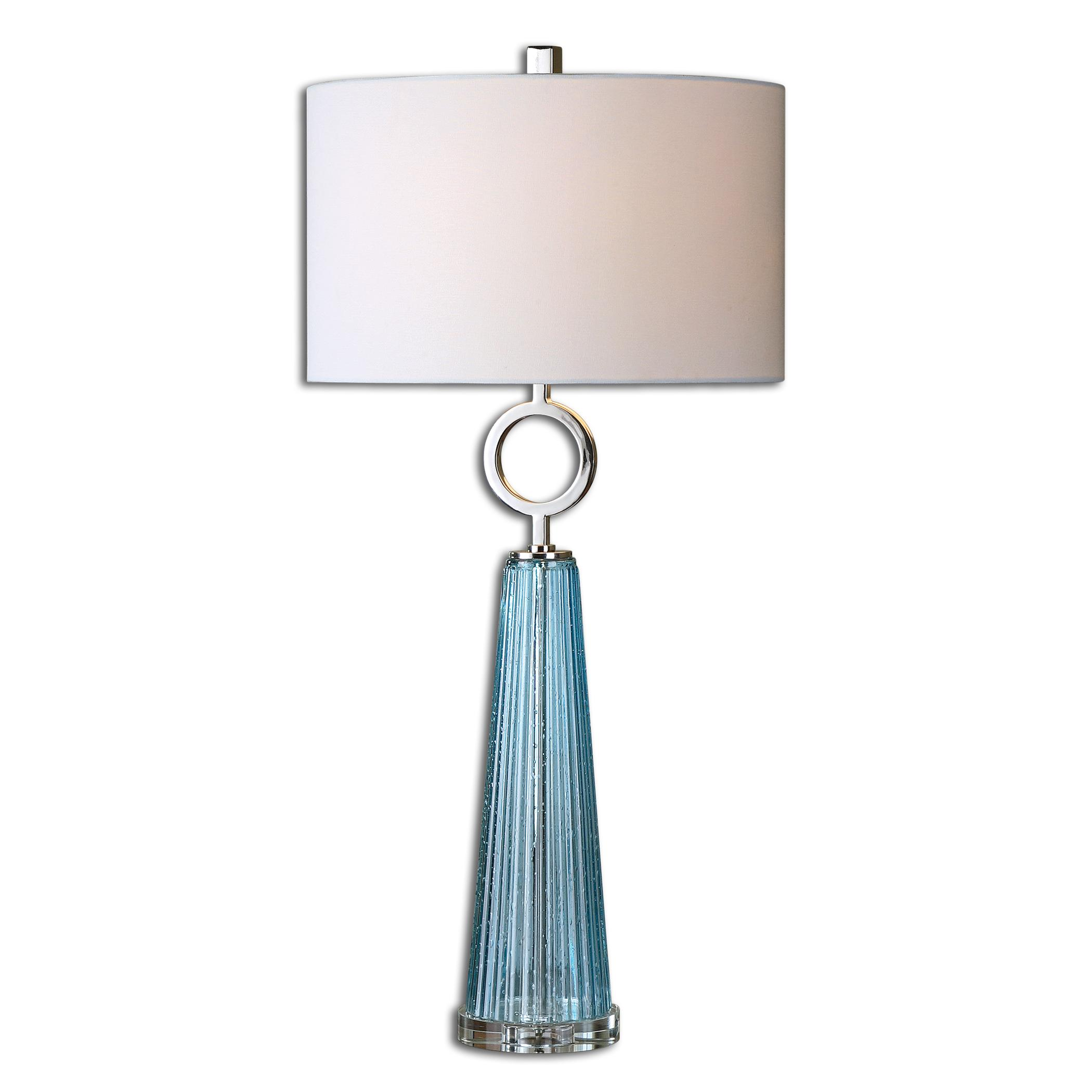 Table Lamps Navier Blue Glass Table Lamp by Uttermost at Adcock Furniture