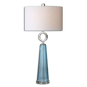 Uttermost Lamps Navier Blue Glass Table Lamp