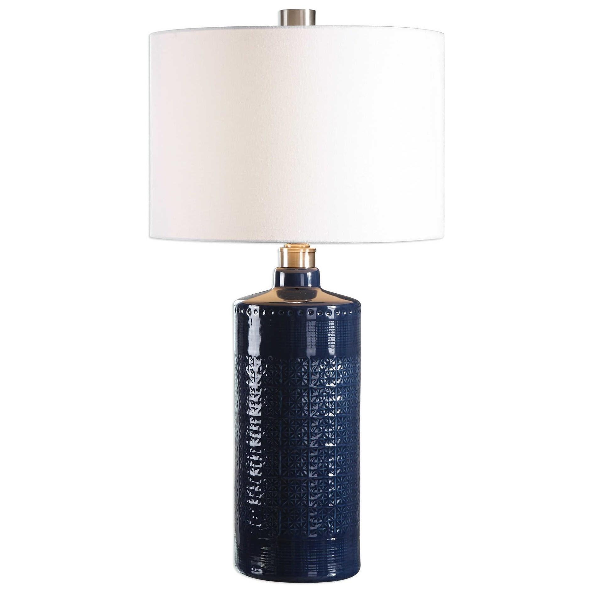 Table Lamps Thalia Royal Blue Table Lamp at Ruby Gordon Home