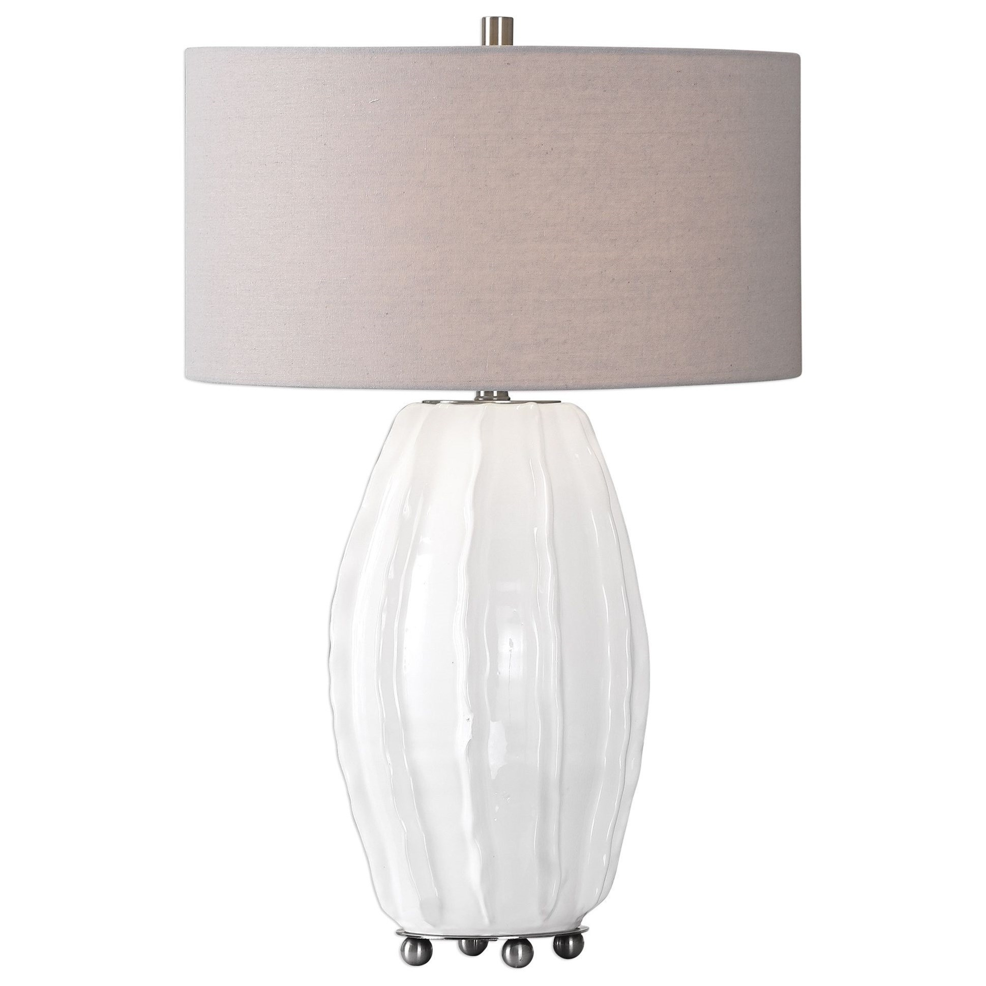 Table Lamps Marazion Gloss White Lamp by Uttermost at Mueller Furniture