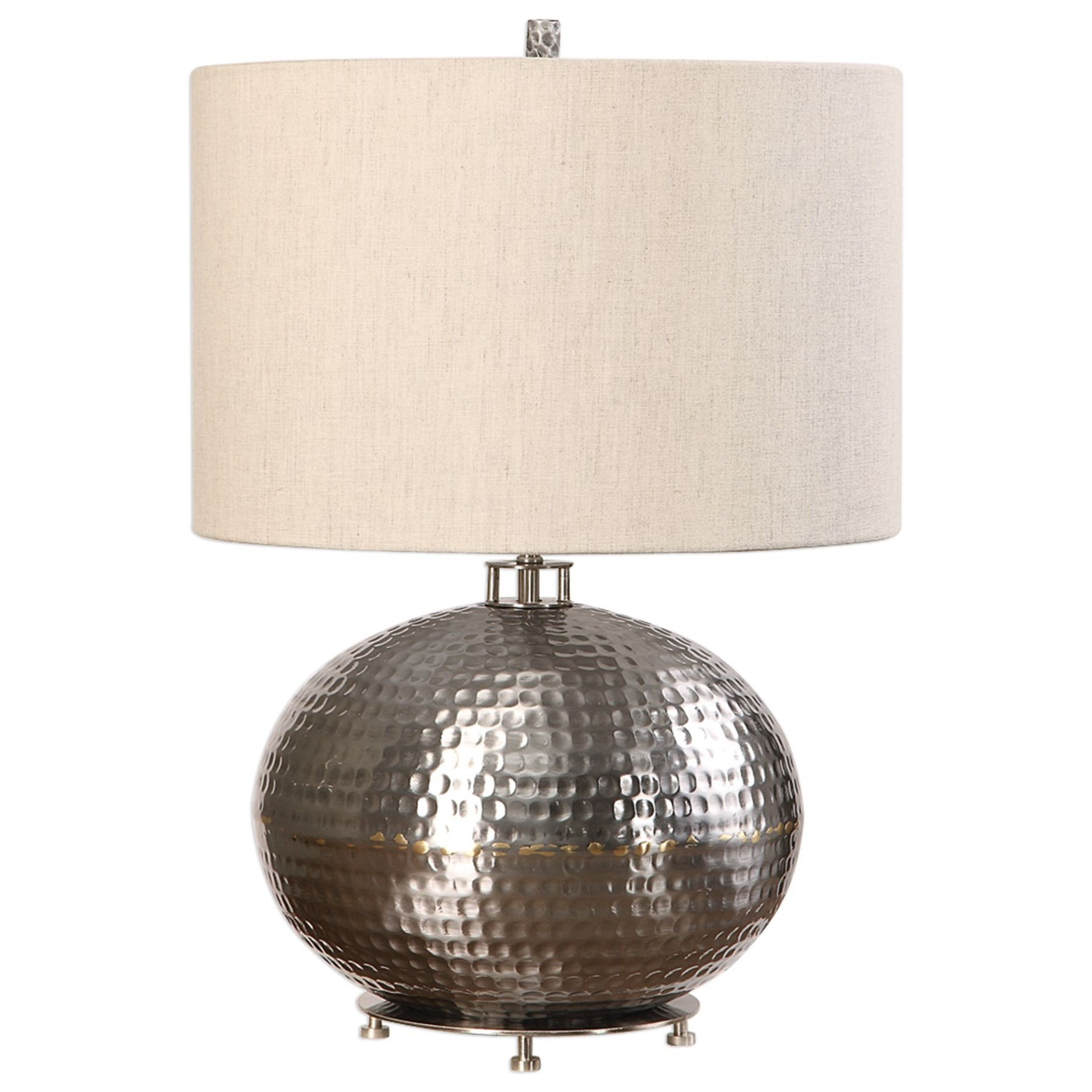 Accent Lamps Metis Hammered Steel Lamp by Uttermost at Mueller Furniture