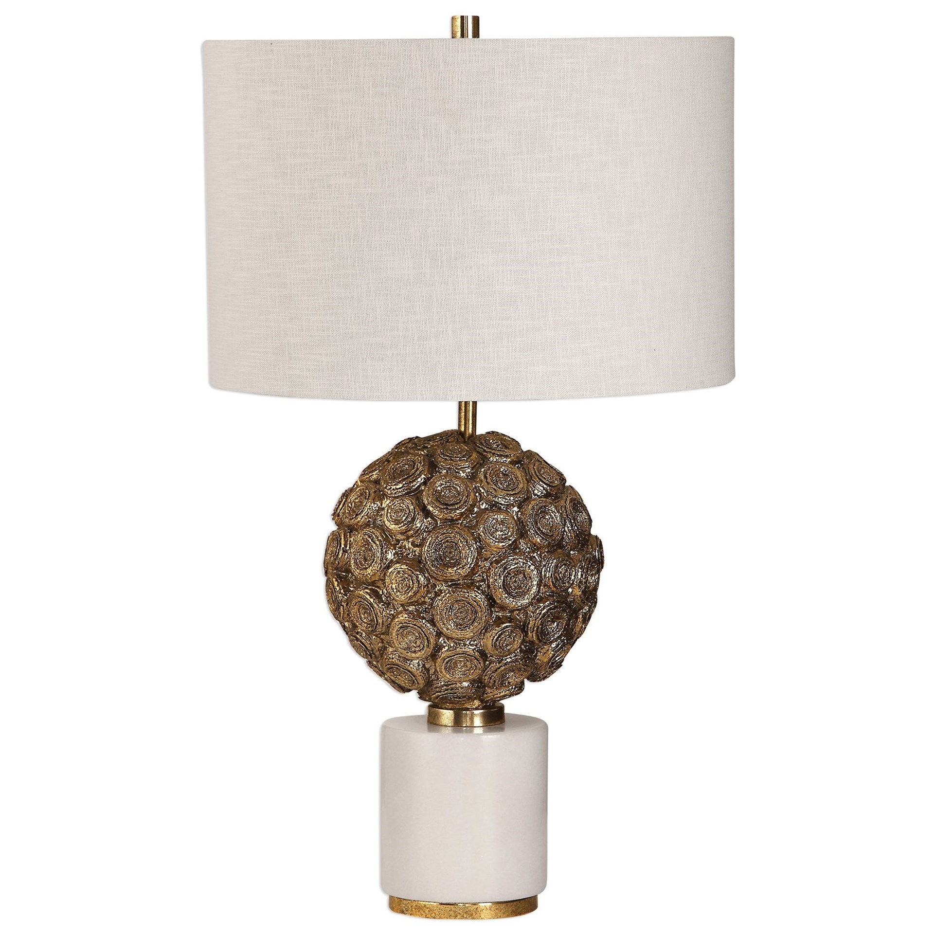 Accent Lamps Taro Aged Gold Lamp by Uttermost at O'Dunk & O'Bright Furniture