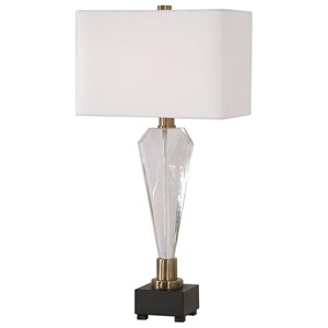 Cora Geometric Crystal Table Lamp