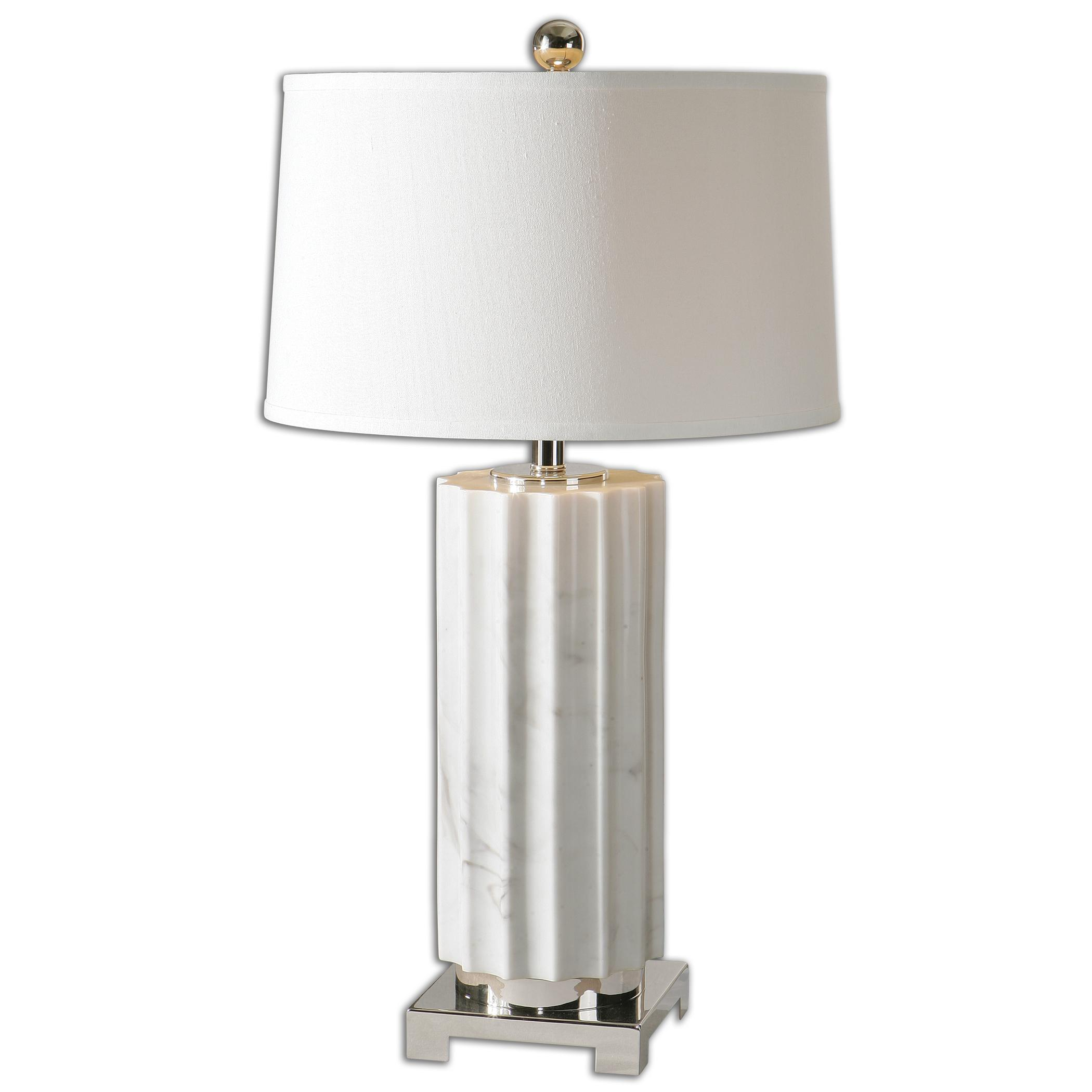 Table Lamps Castorano White Marble Lamp by Uttermost at Mueller Furniture