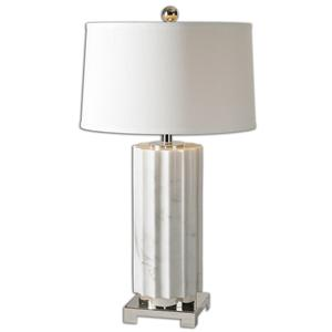 Uttermost Table Lamps Castorano White Marble Lamp