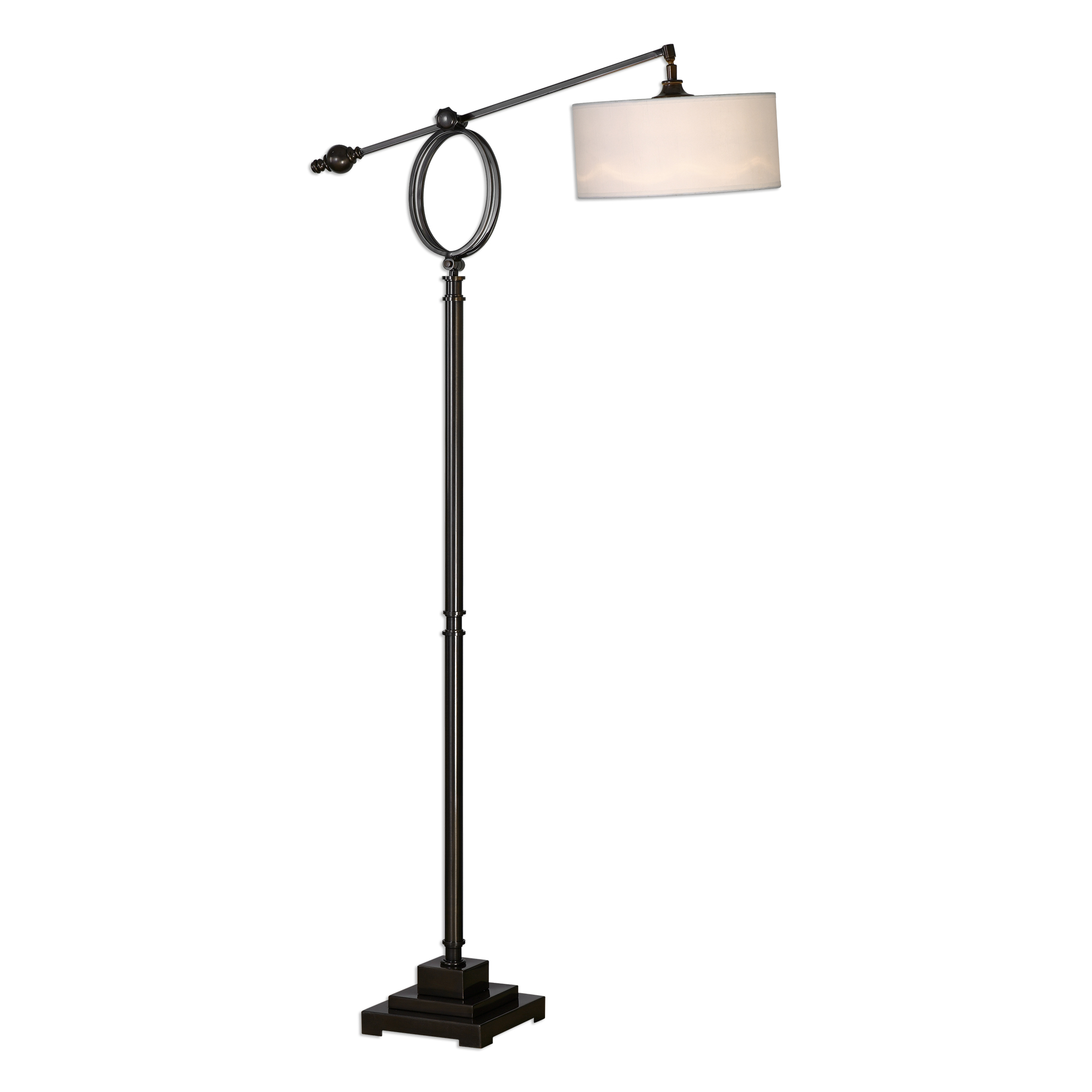 Floor Lamps Levisa Brushed Bronze Floor Lamp by Uttermost at Mueller Furniture