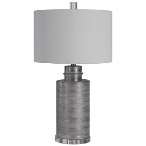 Anitra Metallic Silver Table Lamp