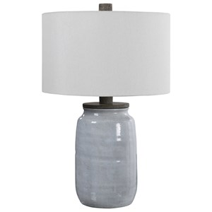 Dimitri Light Blue Table Lamp