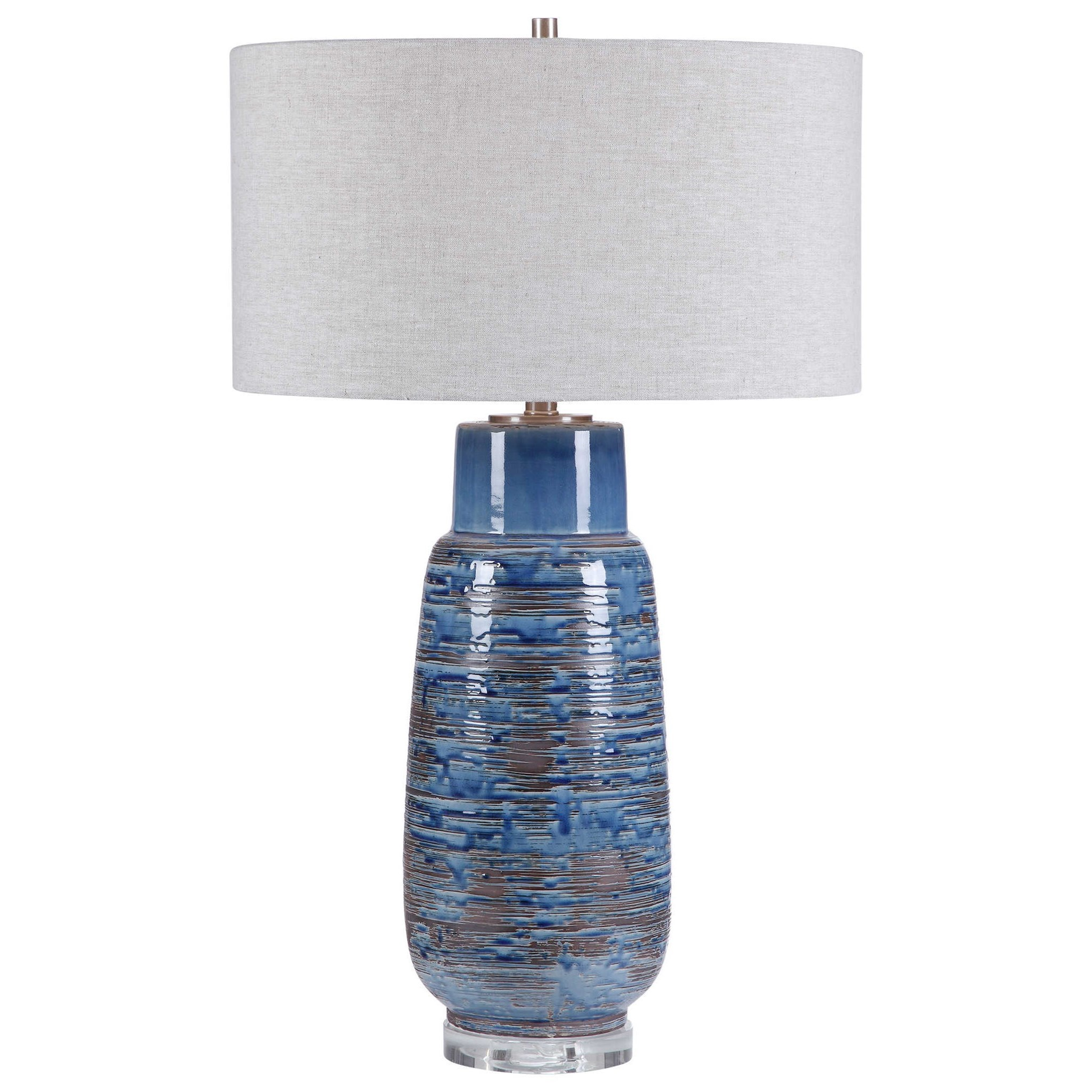 Table Lamps Magellan Blue Table Lamp by Uttermost at Mueller Furniture