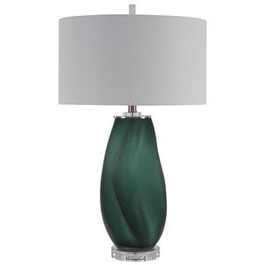 Esmeralda Green Glass Table Lamp