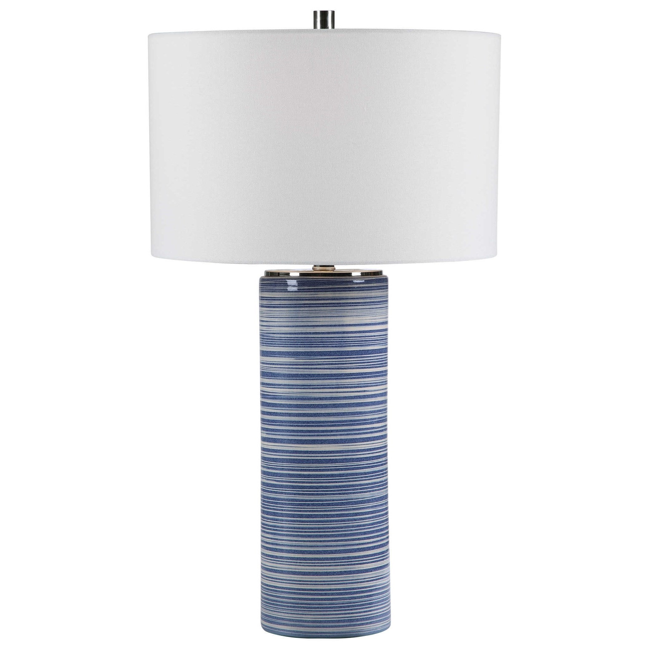 Table Lamps Montauk Striped Table Lamp by Uttermost at Suburban Furniture
