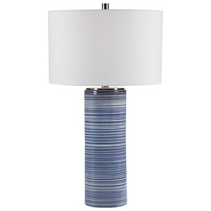 Montauk Striped Table Lamp