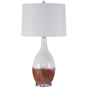 Durango Rust White Table Lamp