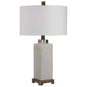 Irie Crackled Taupe Table Lamp