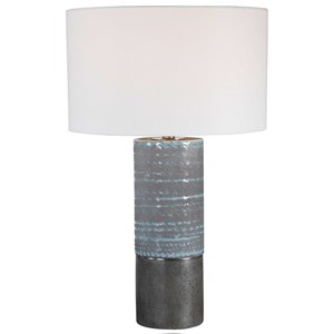 Gray Textured Table Lamp