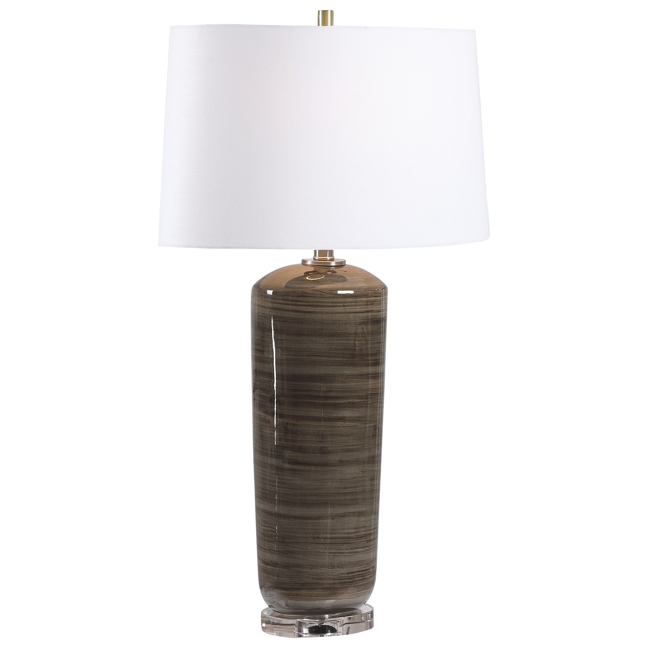 Table Lamps Ebon Charcoal Table Lamp by Uttermost at Stuckey Furniture