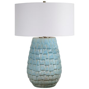 Talima Pastel Blue Table Lamp