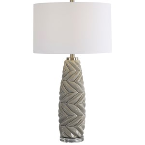 Kari Light Gray Table Lamp