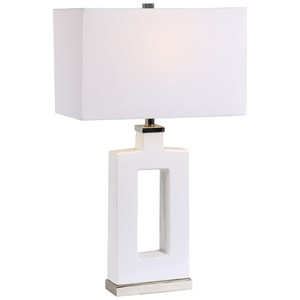 Entry Modern White Table Lamp