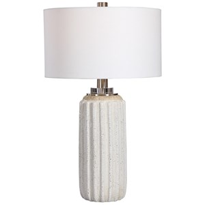 Azariah White Crackle Table Lamp