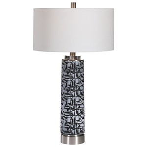 Kramer Gray Black Table Lamp