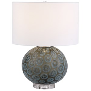 Agate Slice Charcoal Table Lamp