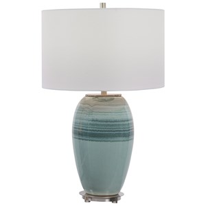Caicos Teal Table Lamp