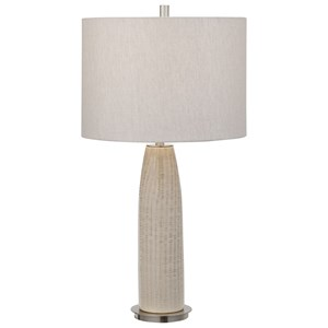 Delgado Light Gray Table Lamp