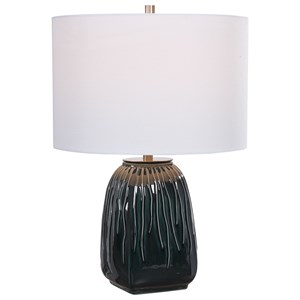 Marimo Deep Teal Table Lamp