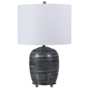 Transpose Satin Black Table Lamp