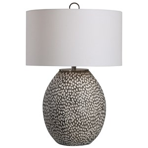 Cyprien Gray White Table Lamp