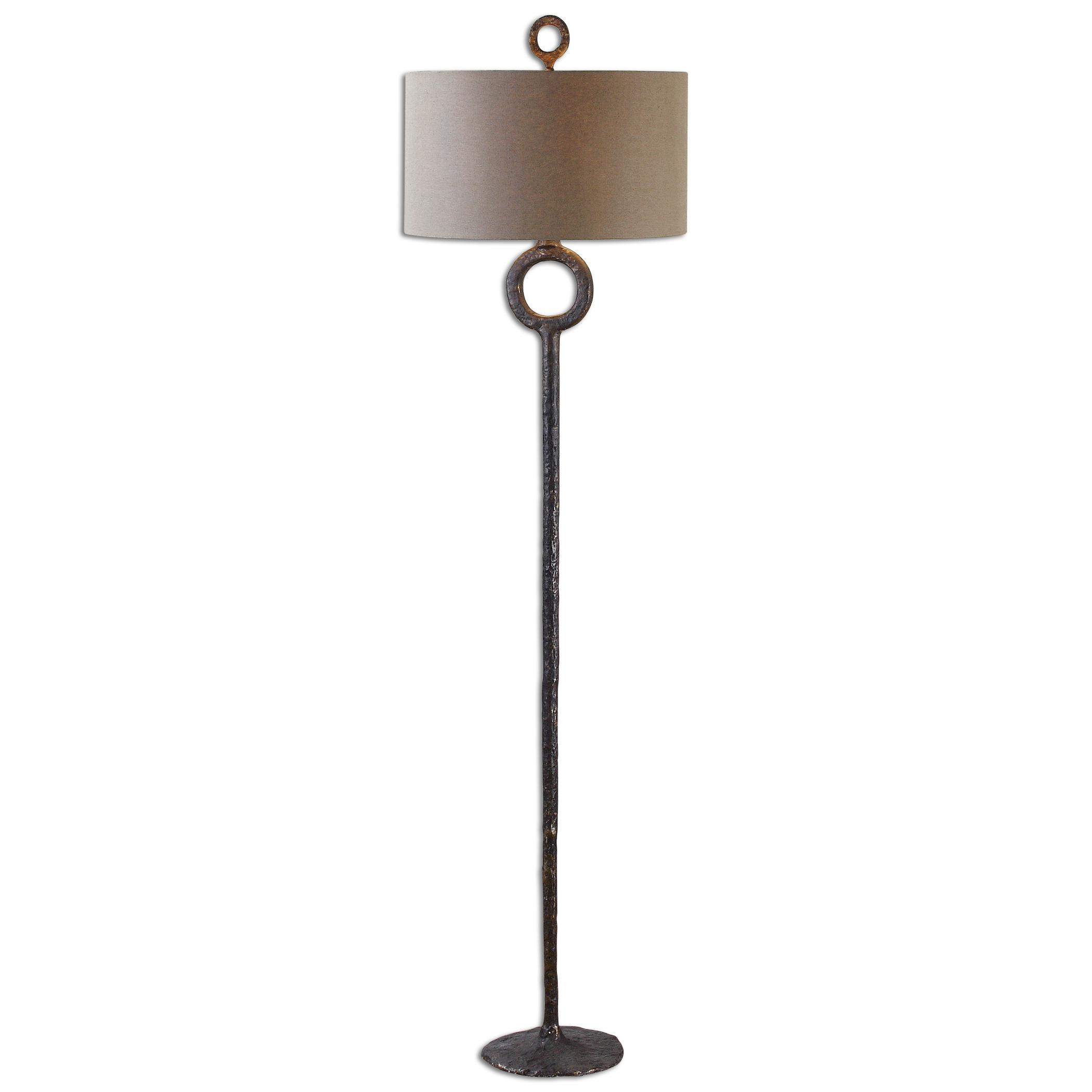 Floor Lamps Ferro Cast Iron Floor Lamp by Uttermost at Mueller Furniture