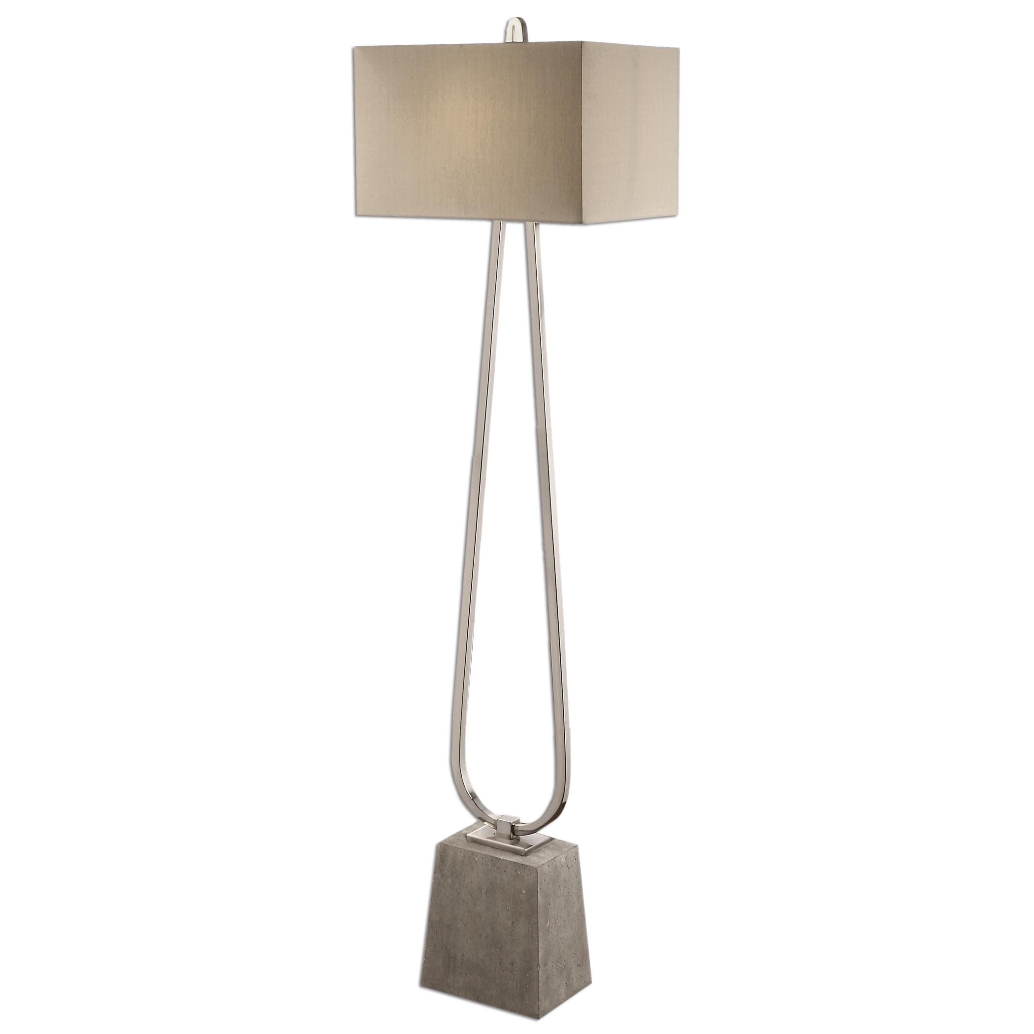 Floor Lamps Carugo Polished Nickel Floor Lamp by Uttermost at Mueller Furniture