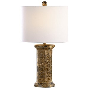 Latina Antiqued Gold Lamp